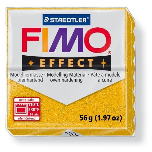 Fimo effect boetseerklei 56 g metallic goud