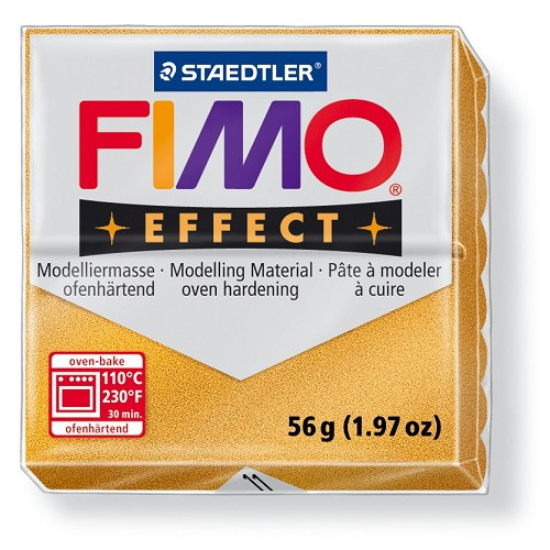 Fimo effect boetseerklei 56 g goud
