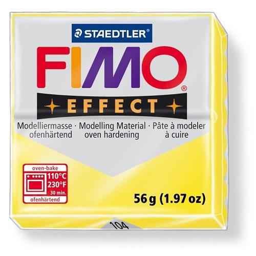 Fimo effect boetseerklei 56 g transparant geel