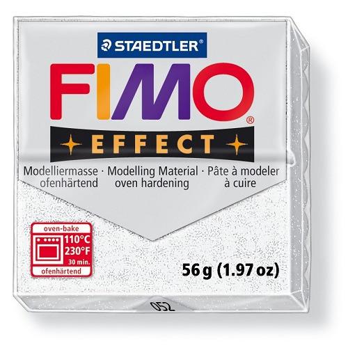 Fimo effect boetseerklei 56 g metallic wit