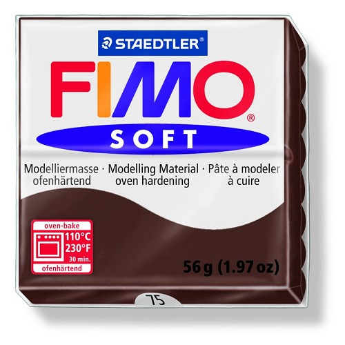 Fimo soft boetseerklei 56 g choco
