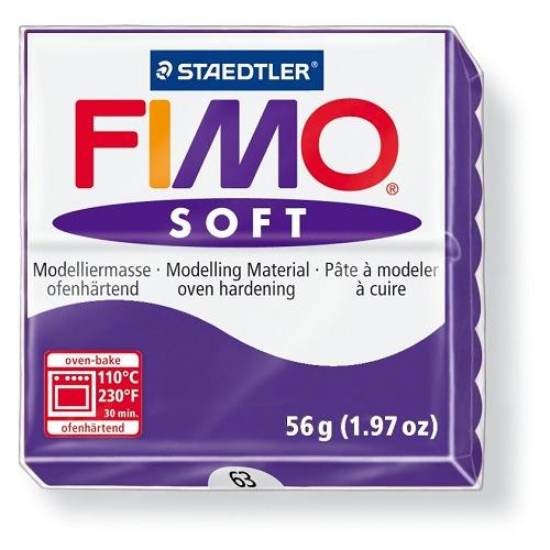 Fimo soft boetseerklei 56 g pruim