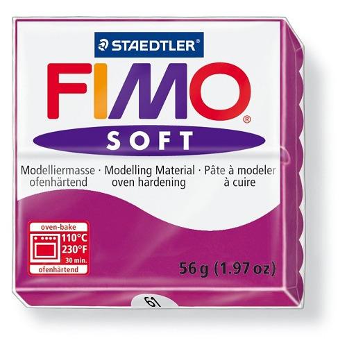Fimo soft boetseerklei 56 g purperviolet