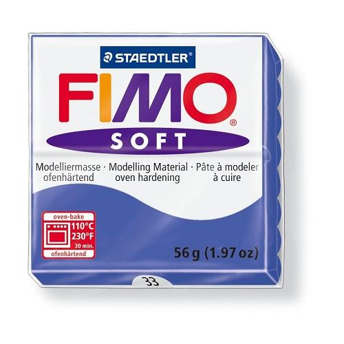 Fimo soft boetseerklei 56 g brilliantblauw
