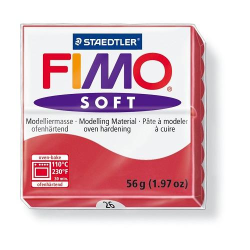 Fimo soft boetseerklei 56 g kersrood
