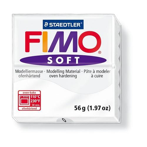 Fimo soft boetseerklei 56 g wit