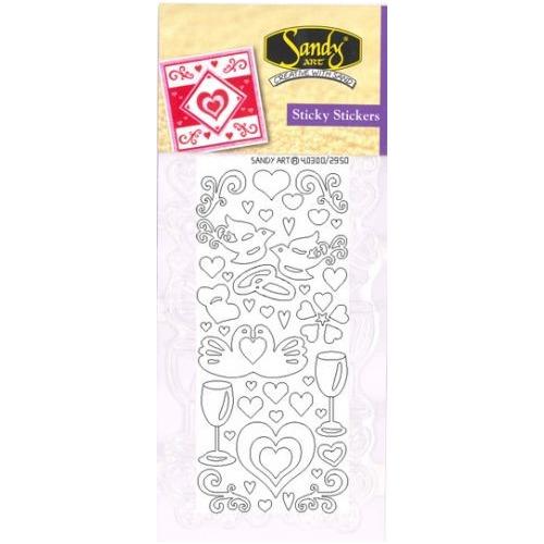 Sandy Art®  Sticky Stickers love