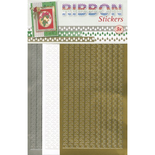 Ribbon Stickers - Goud
