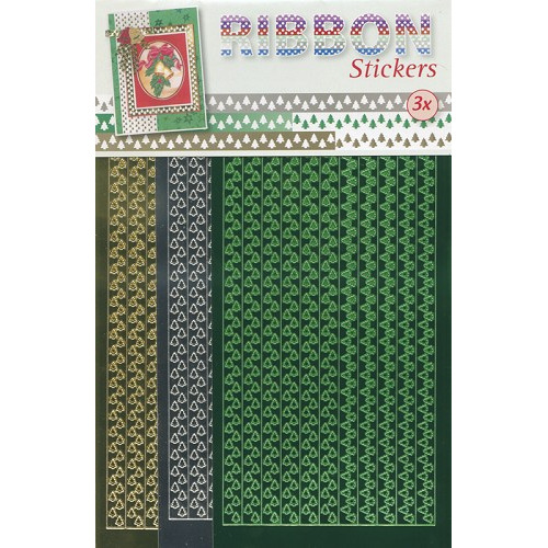 Ribbon Stickers - Groen