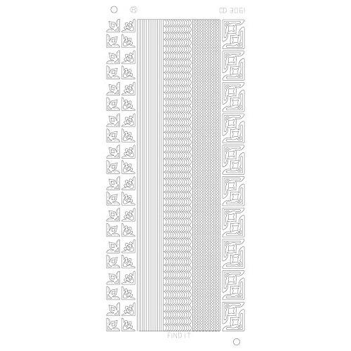 Various Lines Corners Platinum - Zilver