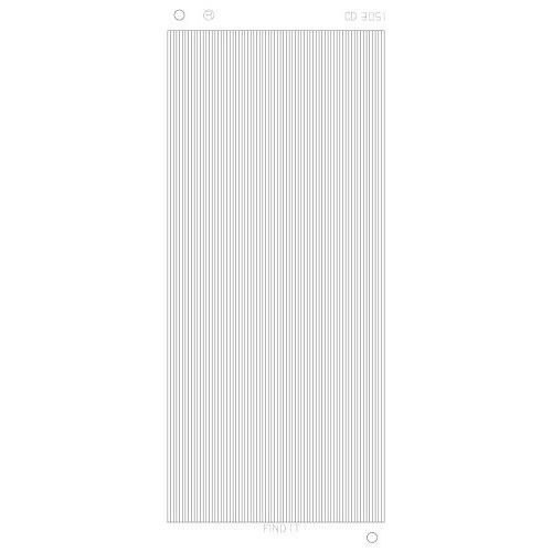 Rechte lijnen Platinum - Zilver