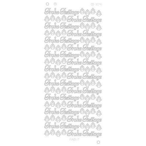 Frohe Festtage Platinum - Zilver