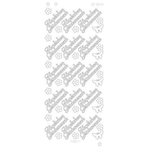 Herzlichen Gluckwunsch Platinum - Zilver