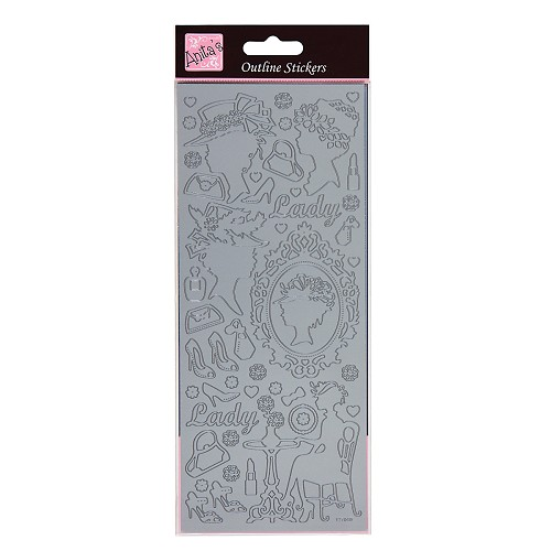 Outline Sticker - Classic Cameos (Silver)