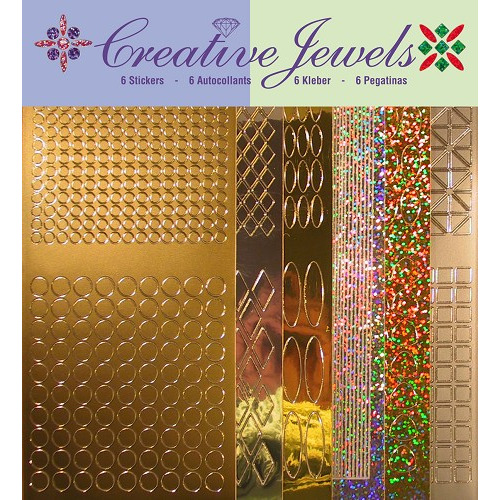 Creative Jewels stickerset - Goud/zilver