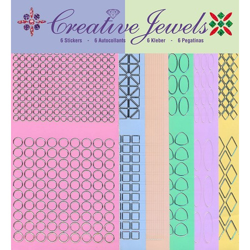 Creative Jewels stickerset - Pastel tint