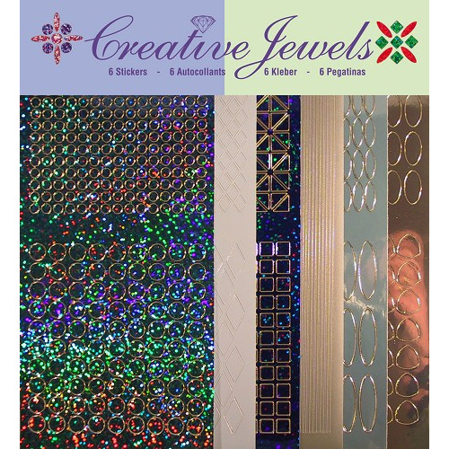 Creative Jewels stickerset - Blauw tint