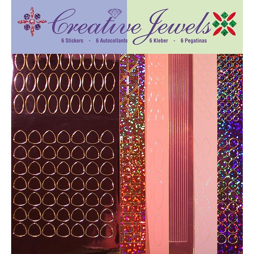 Creative Jewels stickerset - Roze tint