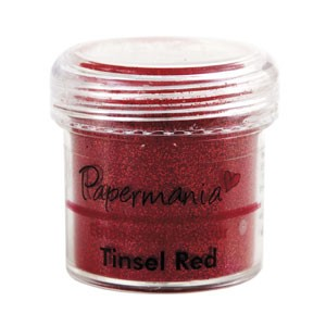 EMBOSSING POWDER 1 OZ TINSEL RED - 28 Gram
