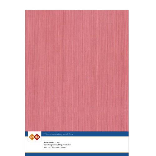 Linnenkarton - A4 - Flamingo