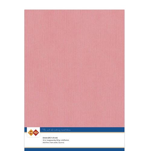 Linnenkarton - A4 - Oud Roze