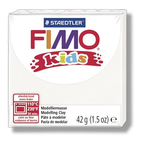 Fimo kids boetseerklei 42 g wit