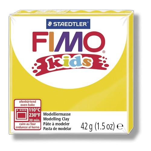 Fimo kids boetseerklei 42 g geel