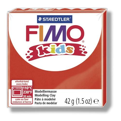 Fimo kids boetseerklei 42 g rood
