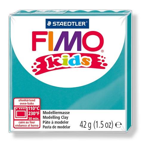 Fimo kids boetseerklei 42 g turkoois