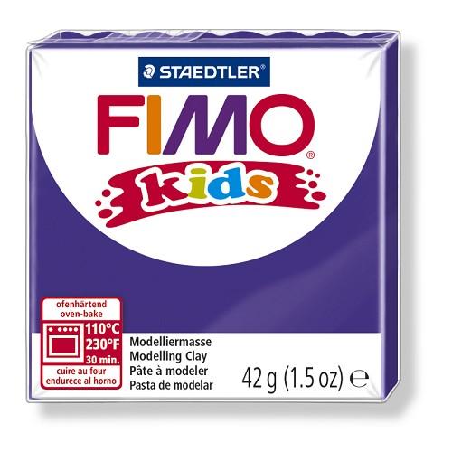 Fimo kids boetseerklei 42 g lila