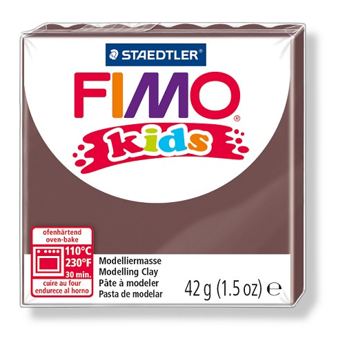 Fimo kids boetseerklei 42 g bruin