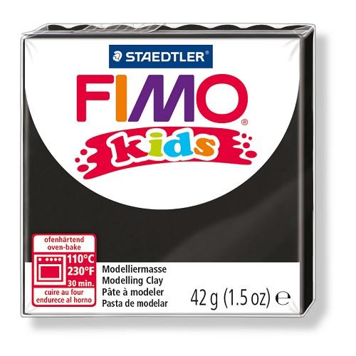 Fimo kids boetseerklei 42 g zwart