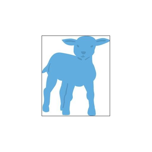 APR Creatables stencil little lamb