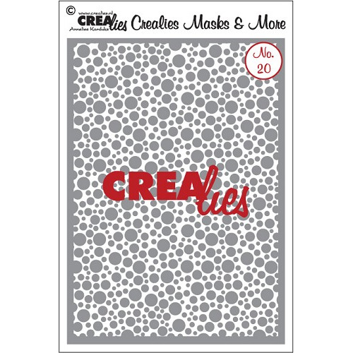 Crealies Masks & More no. 20 kleine cirkels CLMM20