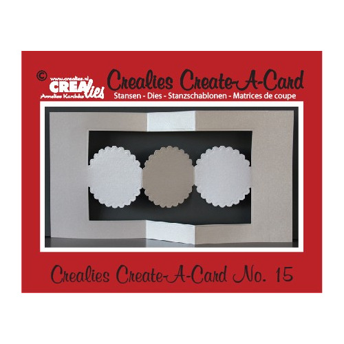 Crealies Create A Card no. 15 stans voor kaart CCAC15