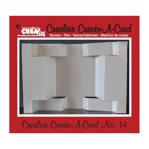 Crealies Create A Card no. 14 stans voor kaart CCAC14