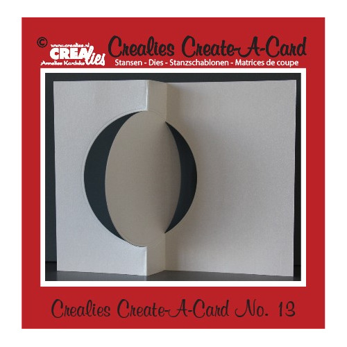 Crealies Create A Card no. 13 stans voor kaart CCAC13