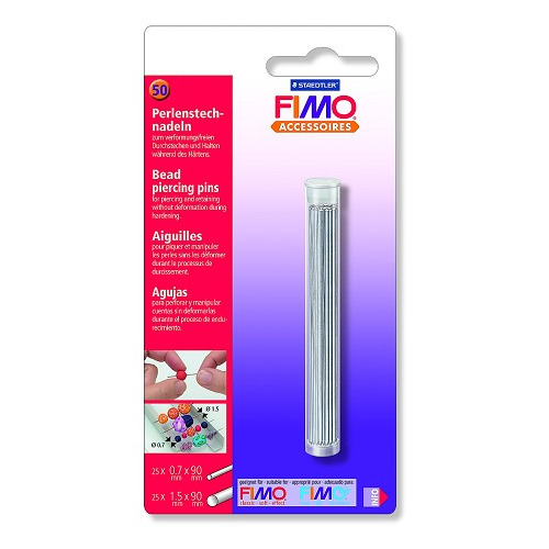 Fimo bead pearcing pins