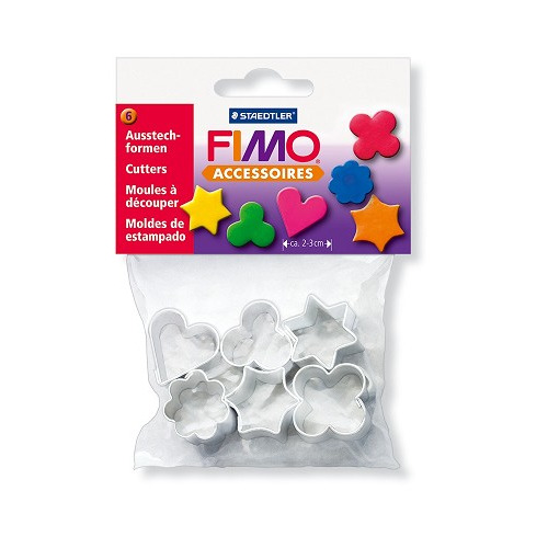 Fimo 6 metalen uitsteekvormen voor juwelen