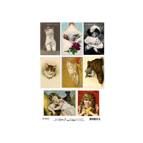 Vintage Toppers A4 Cats