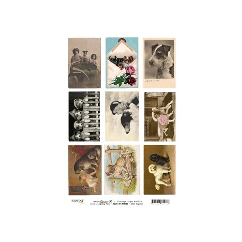 Vintage Toppers A4 Dogs