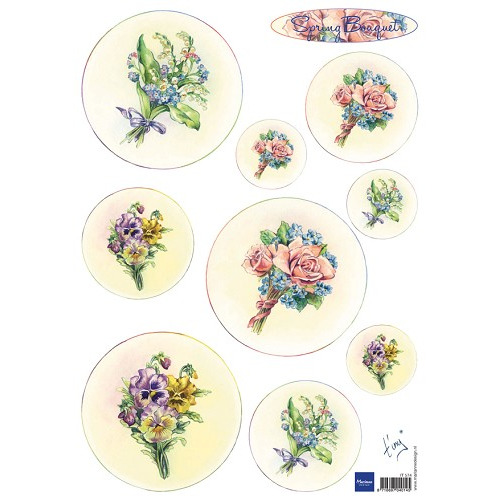 Marianne D 3D Knipvellen Bouquet - Spring IT574 (New 03-15)