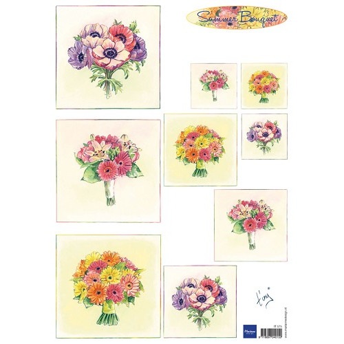 Marianne D 3D Knipvellen Bouquet - Summer IT575 (New 03-15)