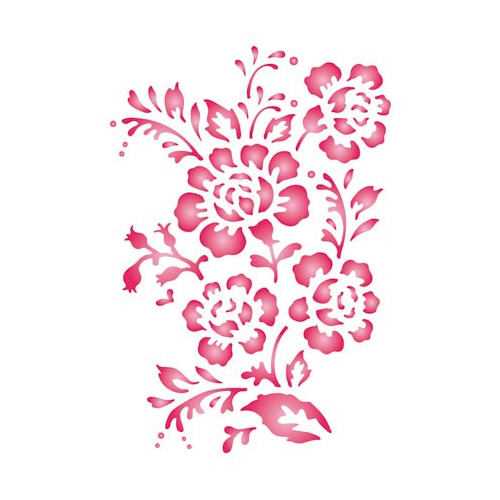 Pronty Funky Stencil - A5 Roses
