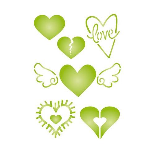 Pronty Funky Stencil - A5 Heart 2