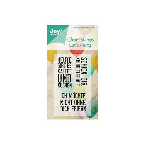 APR Joy! stempel let`s party 50 x 85 mm