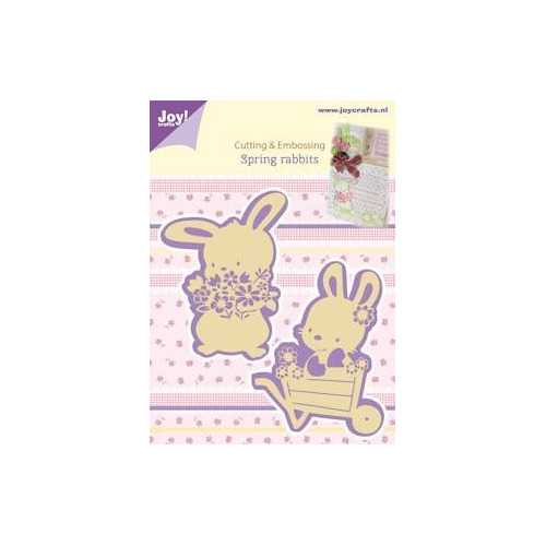 APR Joy! stencil spring rabbits Cutting & Embossing