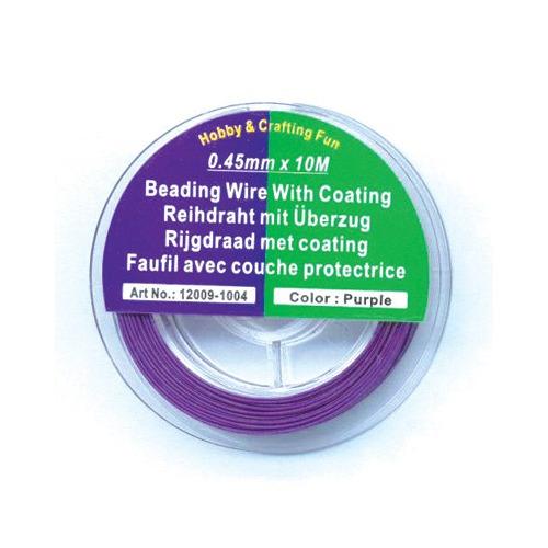 Metaaldraad - Rijgdraad met coating, Purple