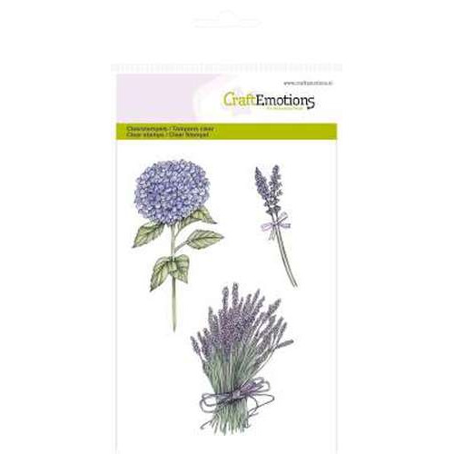 CraftEmotions clearstamps A6 - hortensia en lavendel Romantic Provence