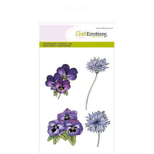 CraftEmotions clearstamps A6 - Viooltjes en korenbloemen Romantic Provence